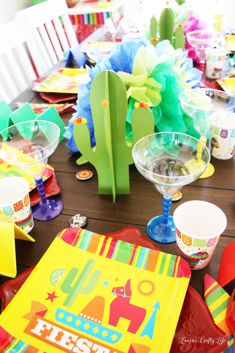 Fiesta Taco Party tablescape