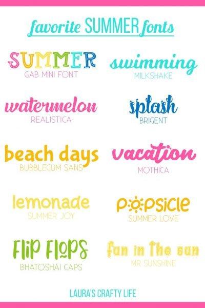 Summer Fonts
