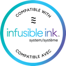 Cricut Infusible Ink compatibility badge for blanks