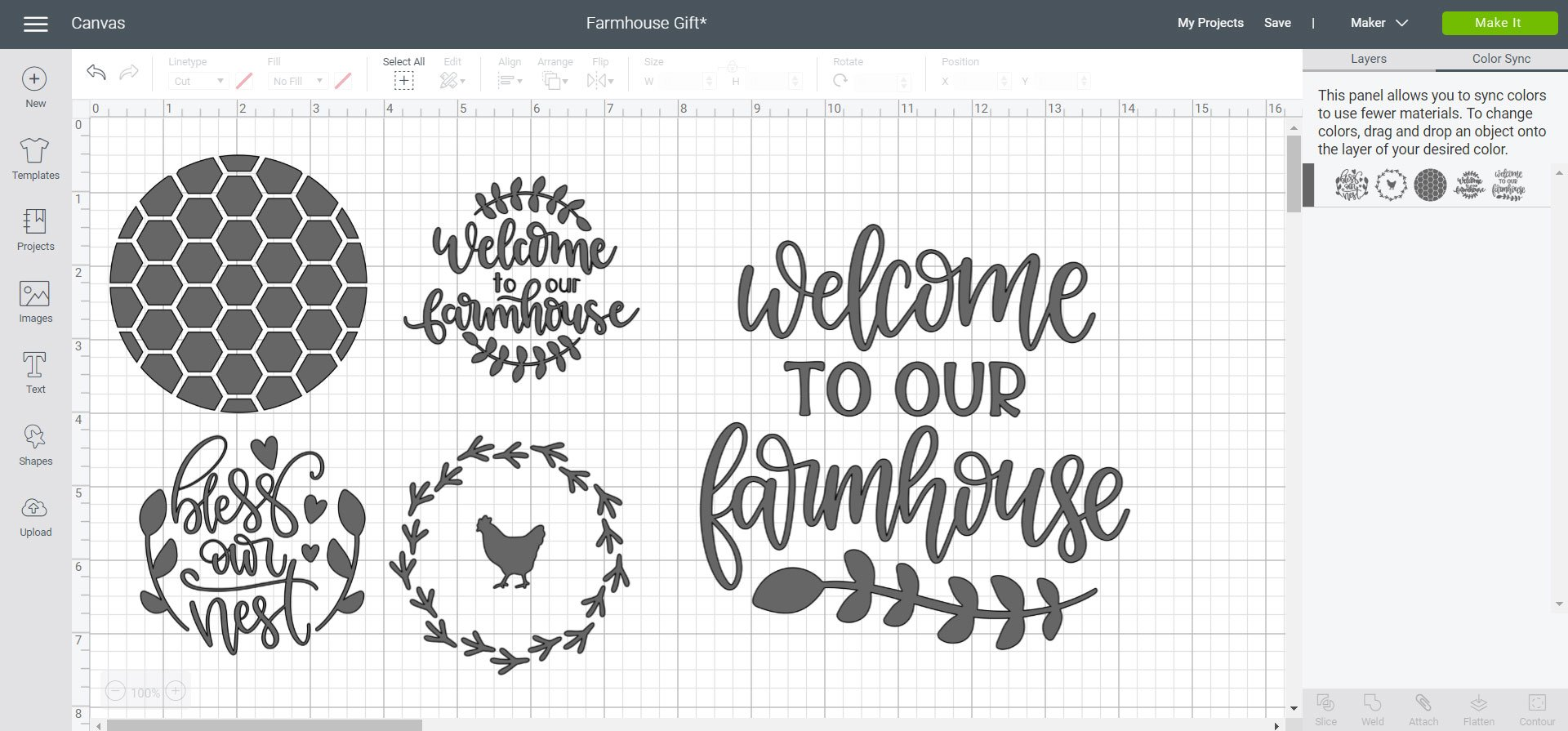 Cricut Design Space File - Farmhouse Gift
