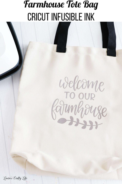 Farmhouse Tote Bag Cricut Infusible Ink