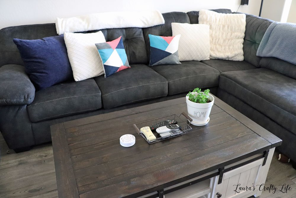 Grey couch decor