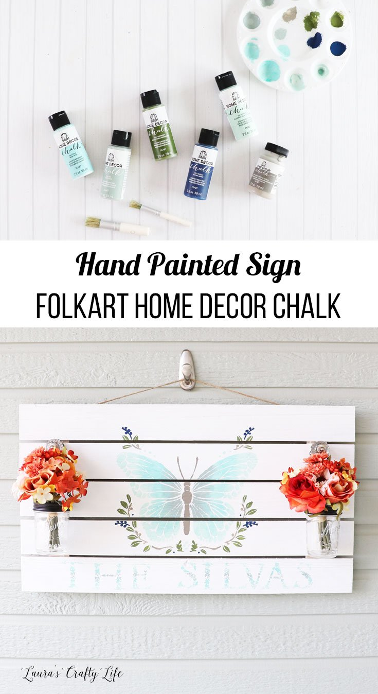 Hand painted sign FolkArt Home Decor Chalk paint