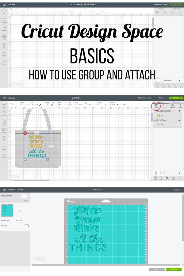 How and when to use group and attach