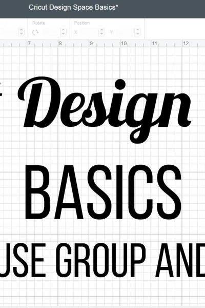 How to use group and attach - Cricut Design Space Basics