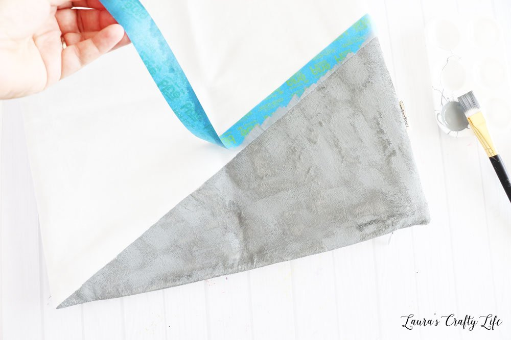 Peel tape off pillow cover