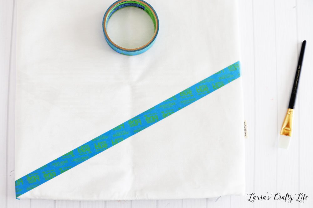 Tape off section of pillow