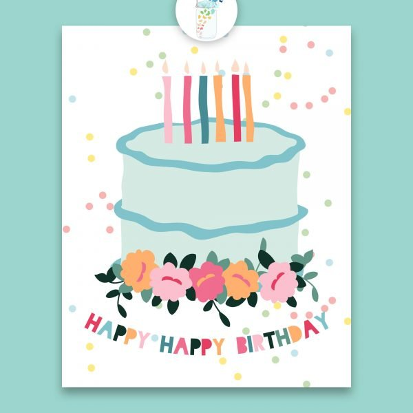 birthday cake digital printable