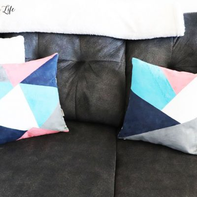how to DIY color block pillows
