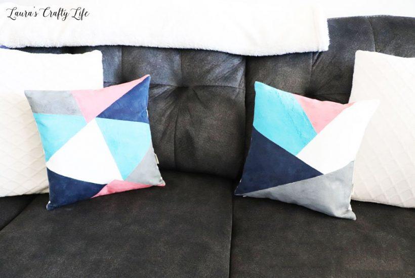 how to DIY color block pillows