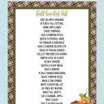 free printable fall bucket list