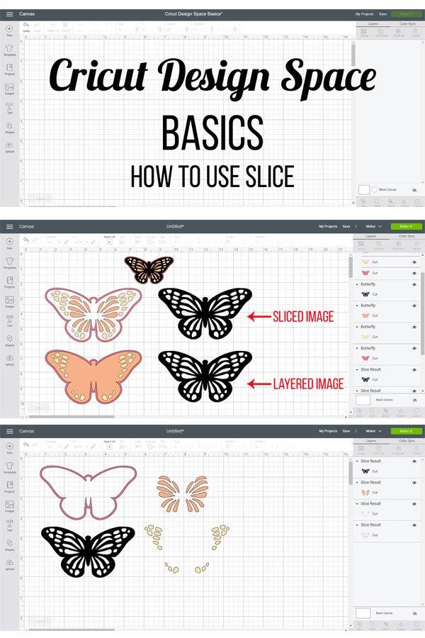Cricut Design Space basics - how to use slice tool