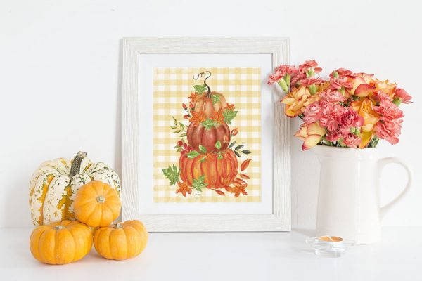 Fall pumpkins printable art