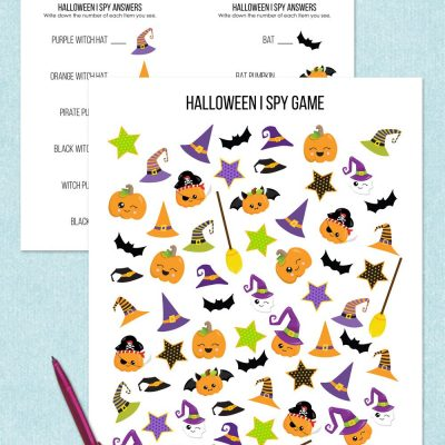 Free printable Halloween I Spy