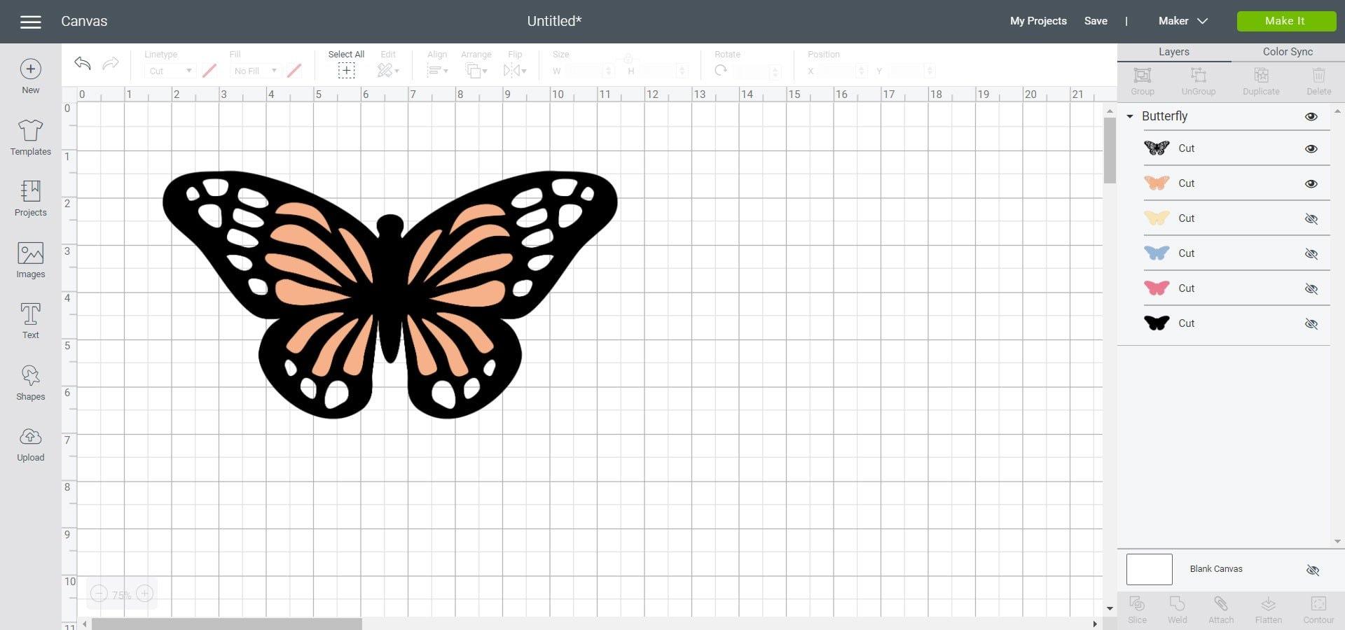 multilayer design slice tool