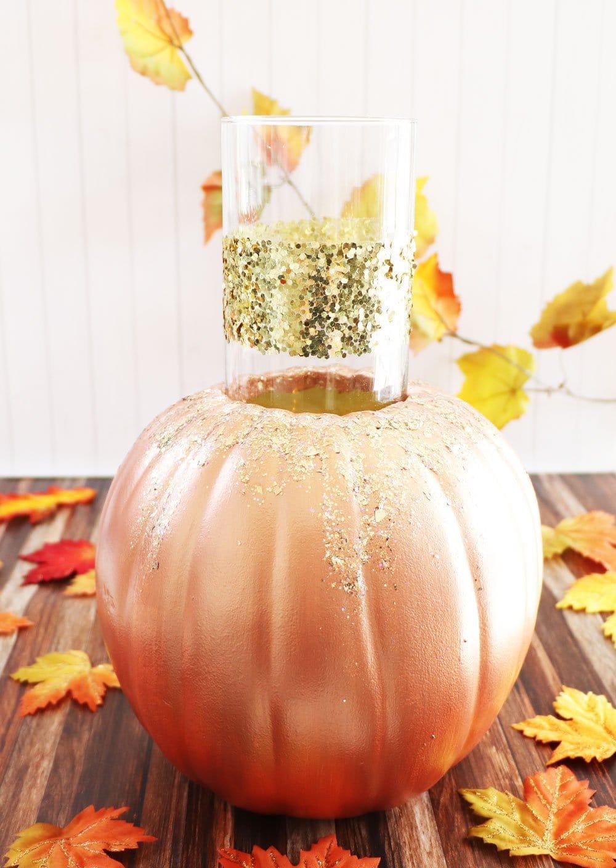 Pumpkin Candle Vase
