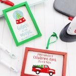 Reverse Canvas Christmas Ornaments