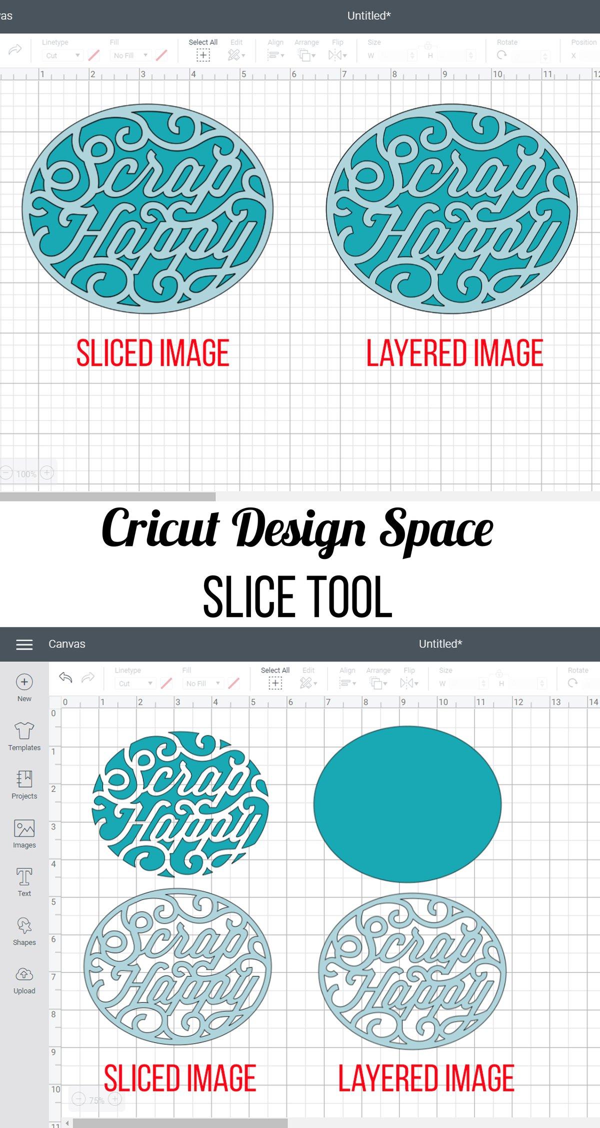Slice tool - Cricut Design Space