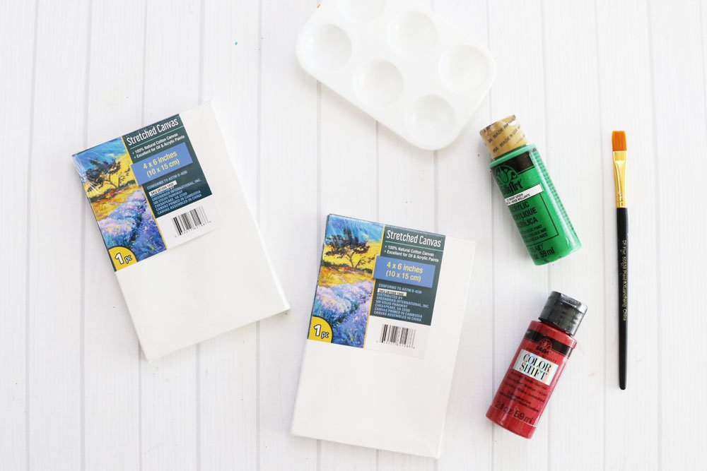 Supplies to make mini reverse canvas