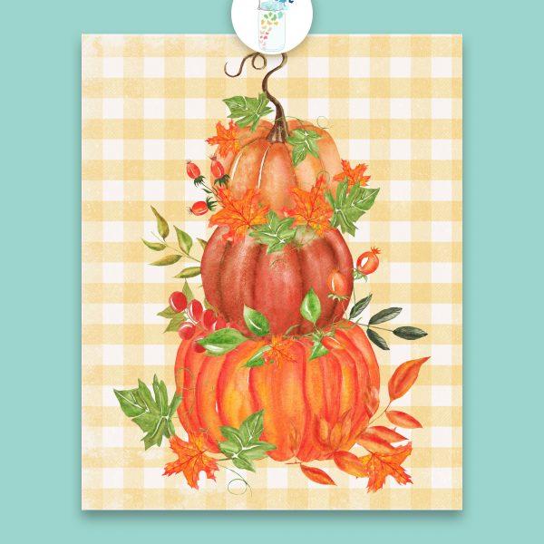 stacked pumpkins printable