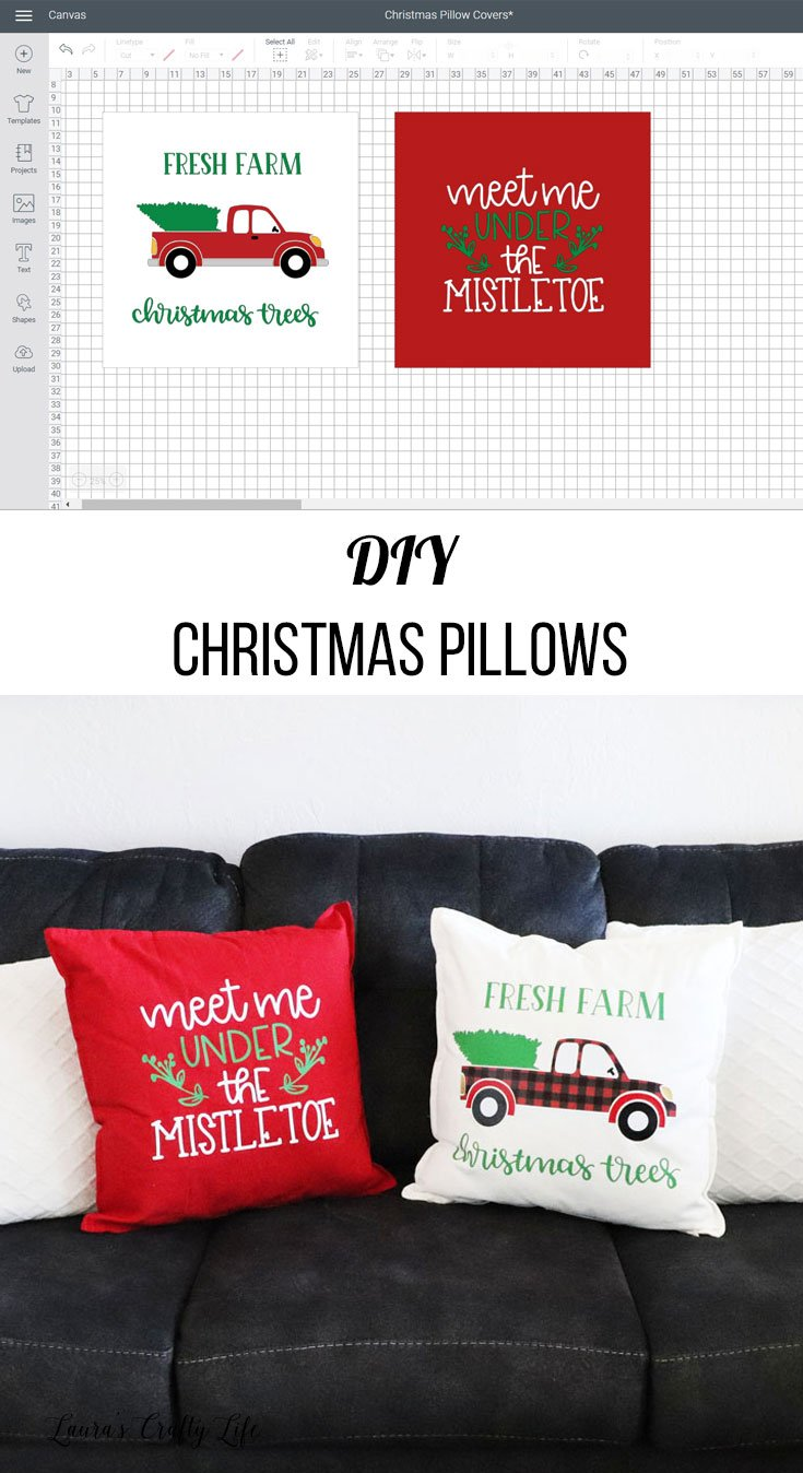DIY Christmas Pillows - FFW Pillow Party 2019