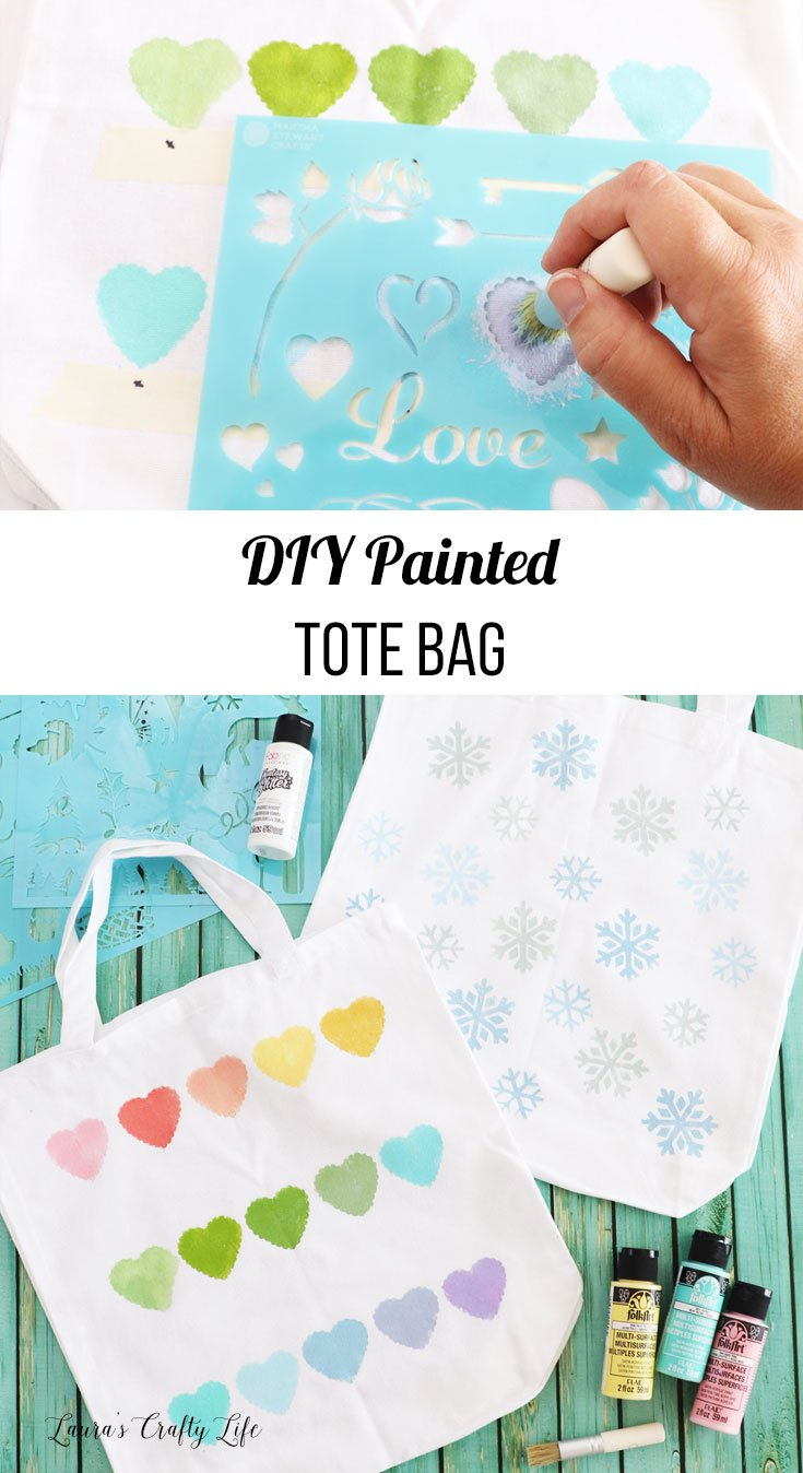 DIY painted tote bag