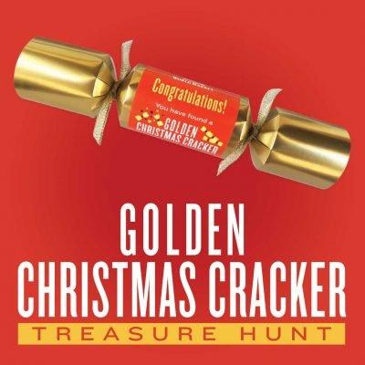 Cost Plus World Market Golden Christmas Cracker Treasure Hunt