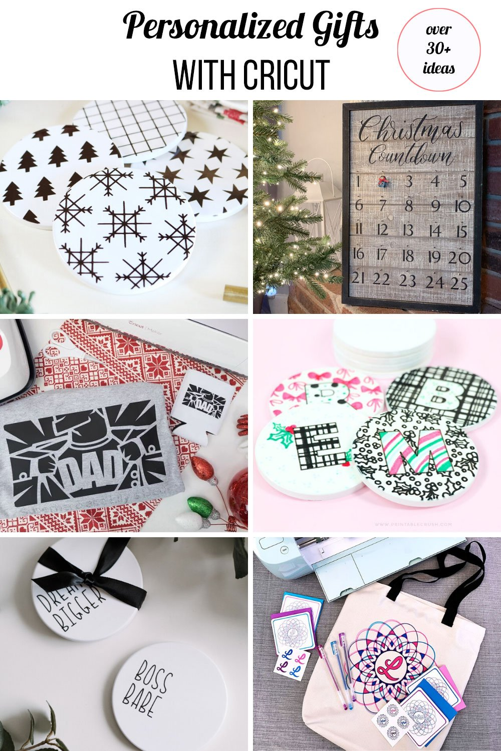 black and white personalized Christmas gifts