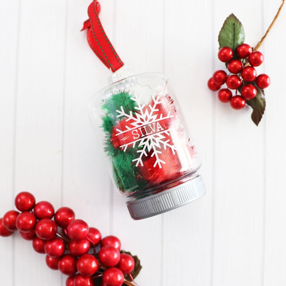 glitter snowflake ornament