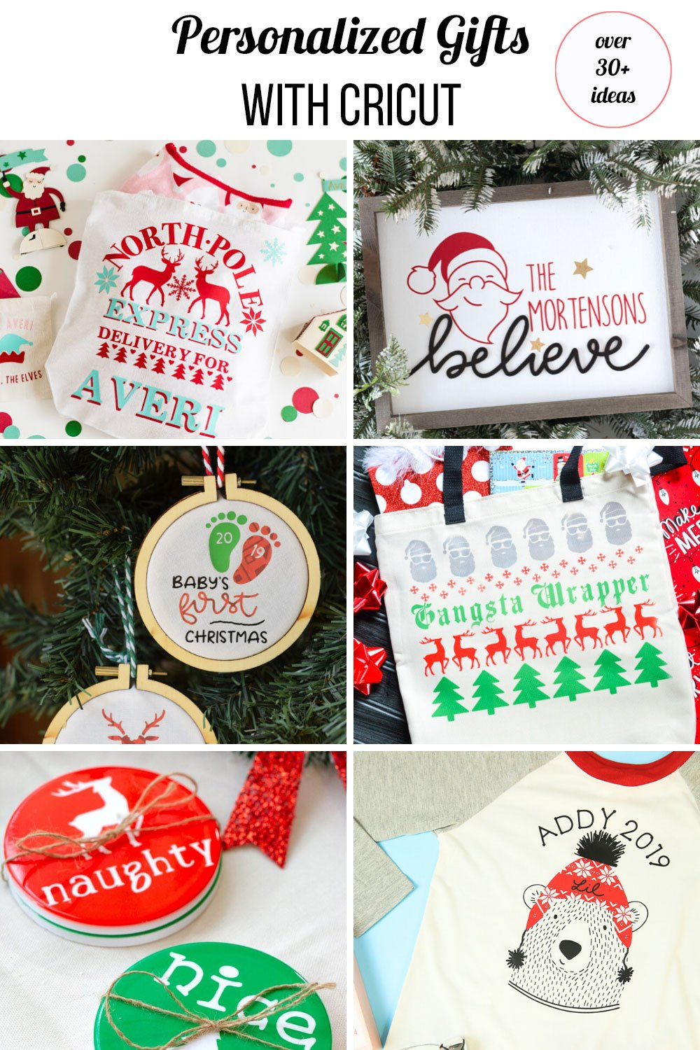 red and green personalized Christmas gifts