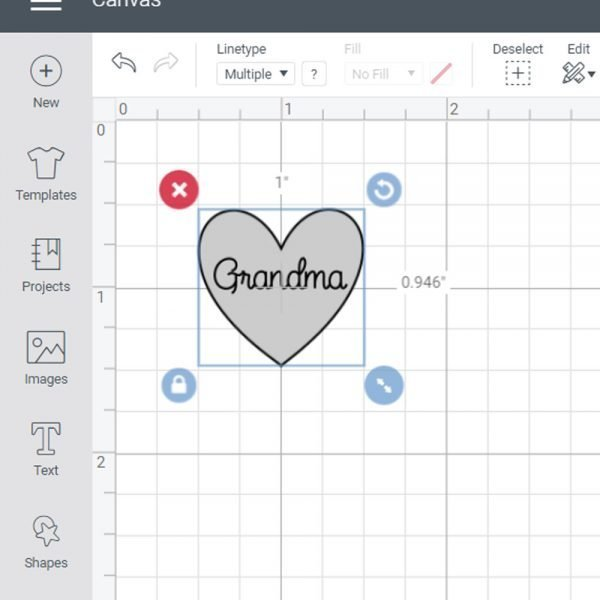 use lines on Cricut mat in Design Space