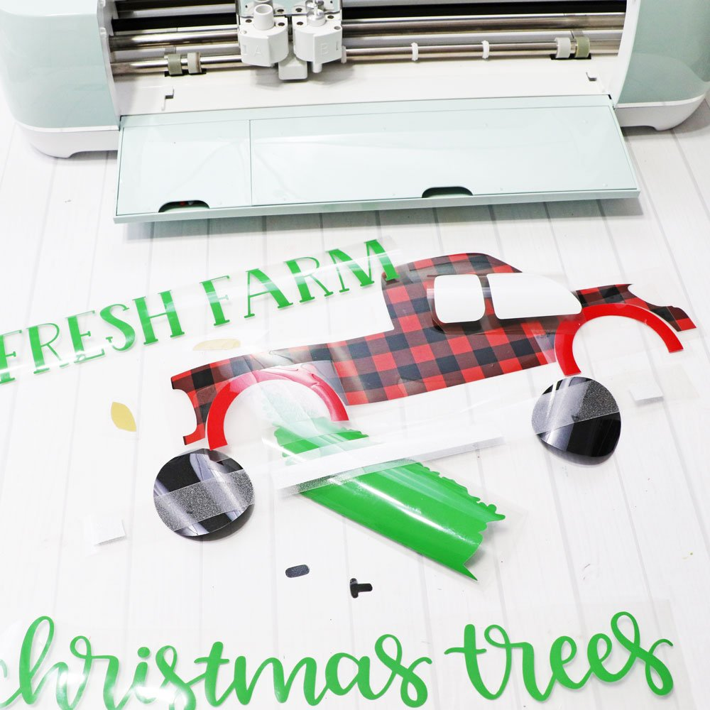 weed iron-on for DIY Christmas pillows