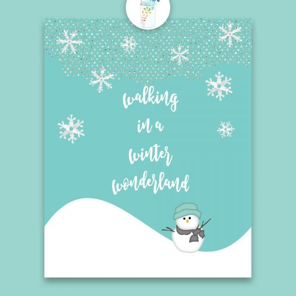 walking in a winter wonderland digital printable