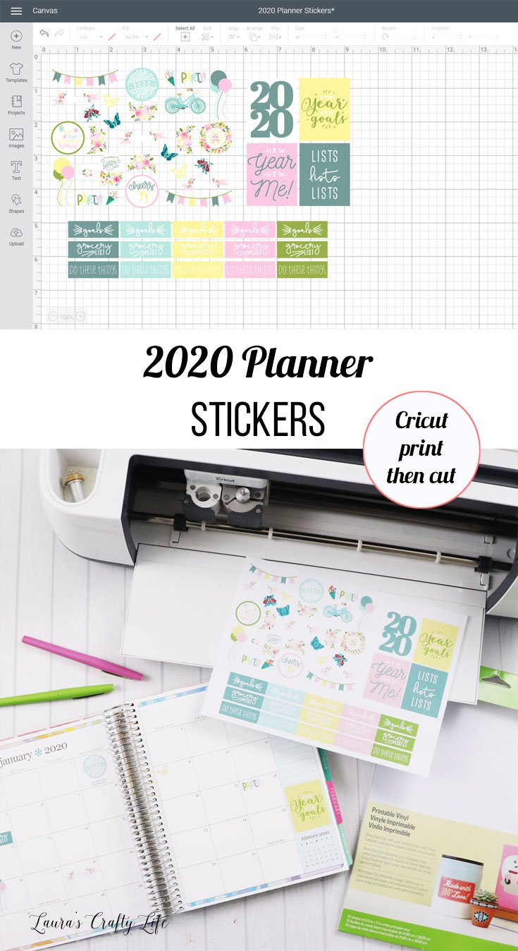 2020 planner stickers with Cricut