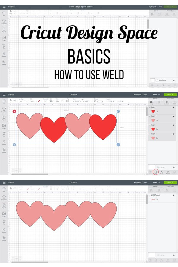 Cricut Design Space - How to Use Weld
