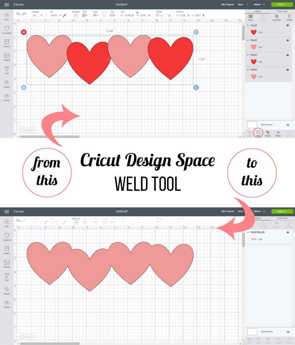Cricut Design Space - Weld Tool