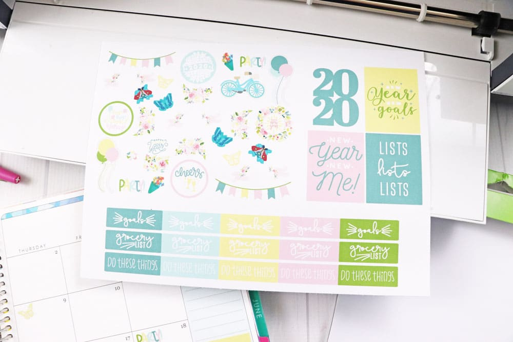 planner stickers for 2020