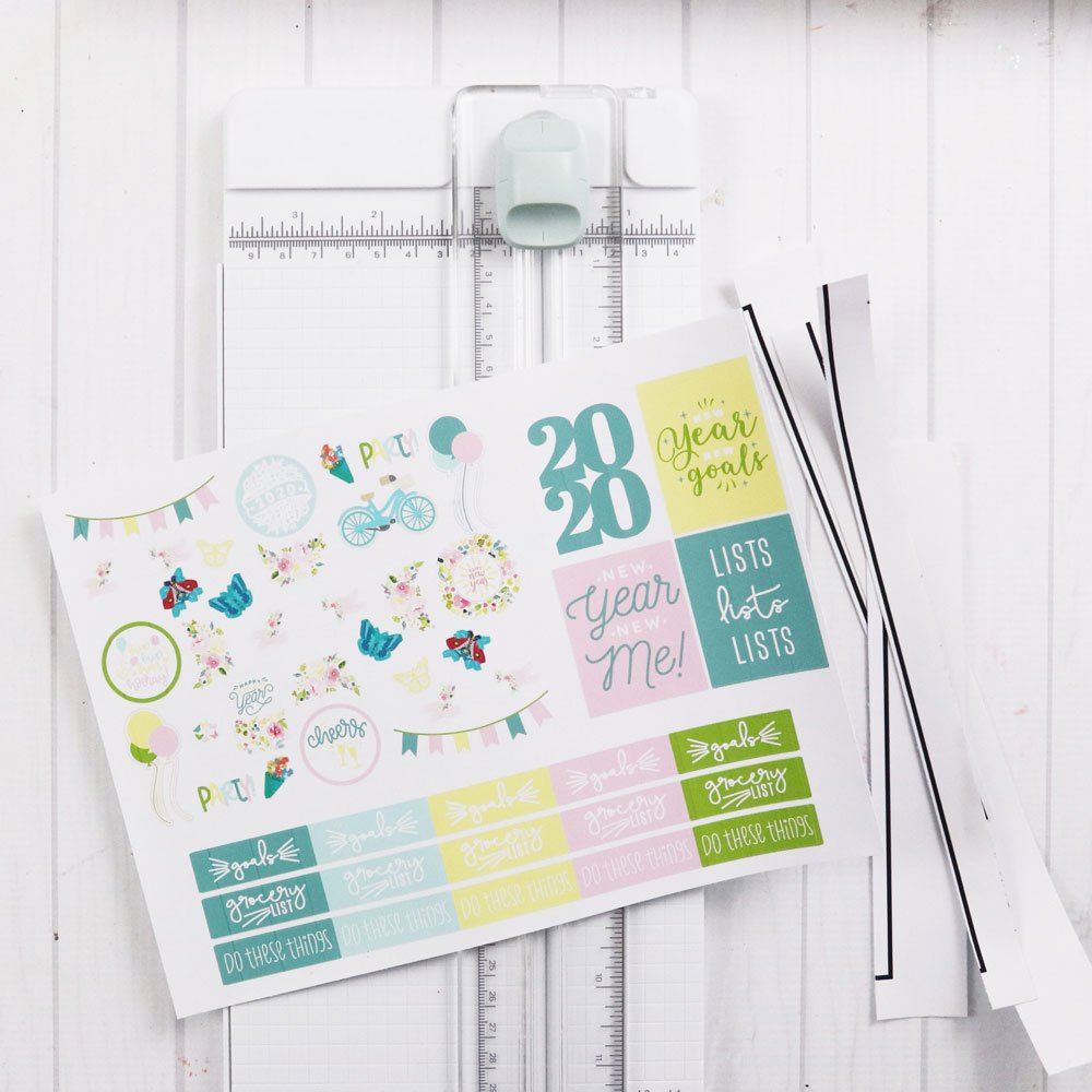 use paper trimmer for stickers
