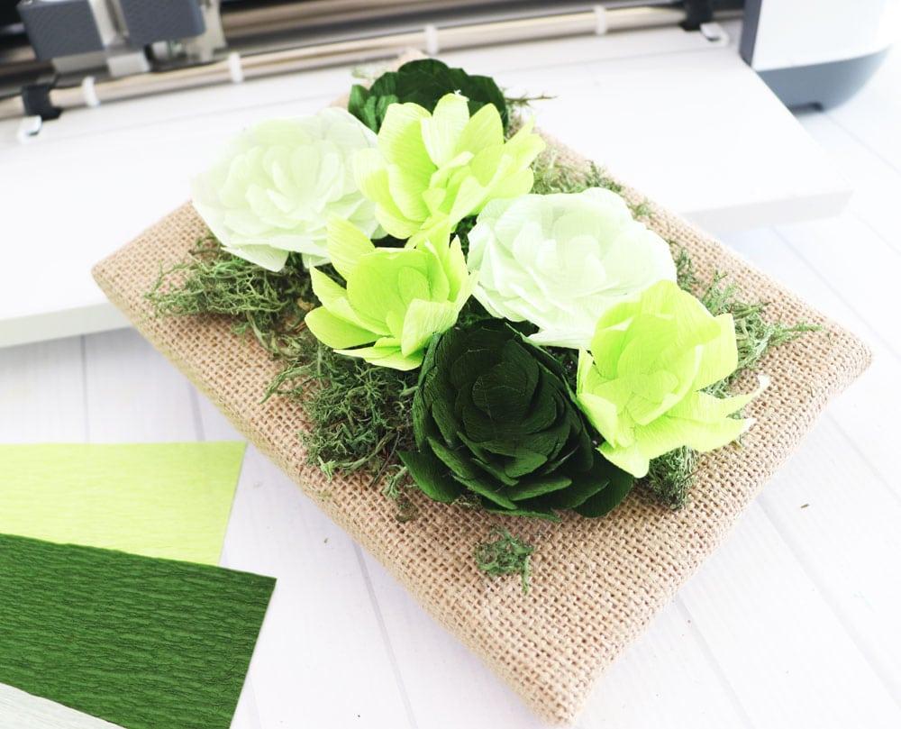 DCWV petal paper succulents