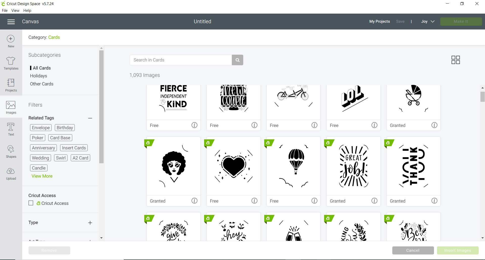 card designs Cricut Design Space