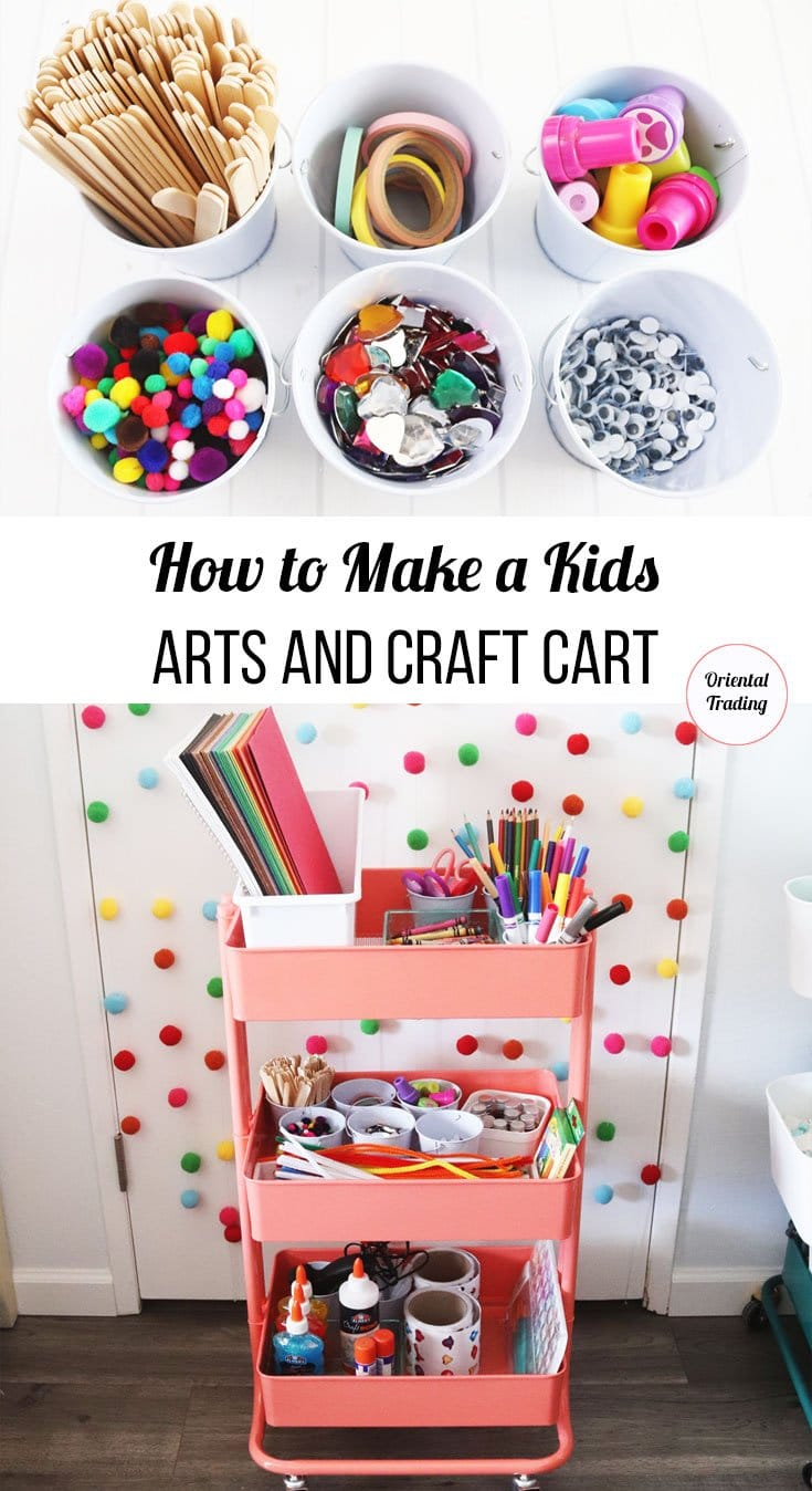 how to make a kids art cart