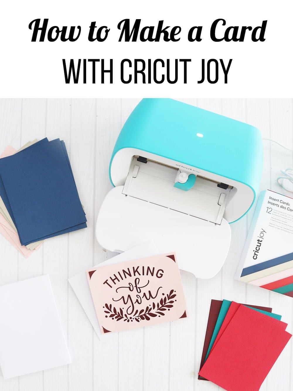 how to make card Cricut Joy