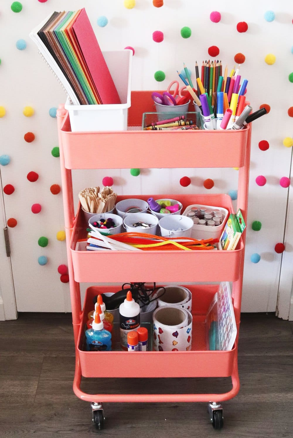 kids art cart