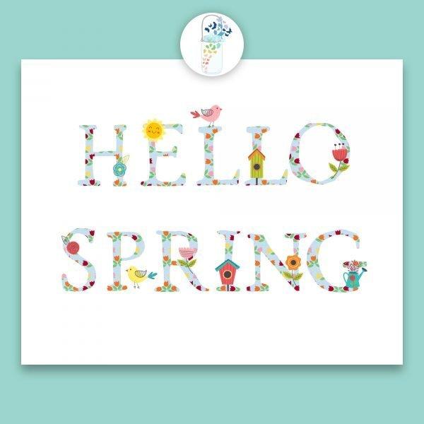 hello spring digital printable