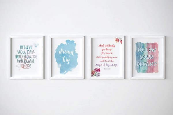 inspirational water color bundle horizontal frames