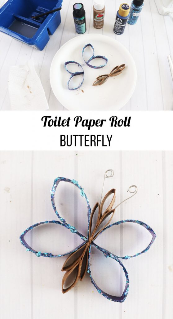 how to make toilet paper roll butterfly