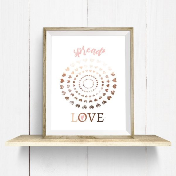 spread love printable wood frame