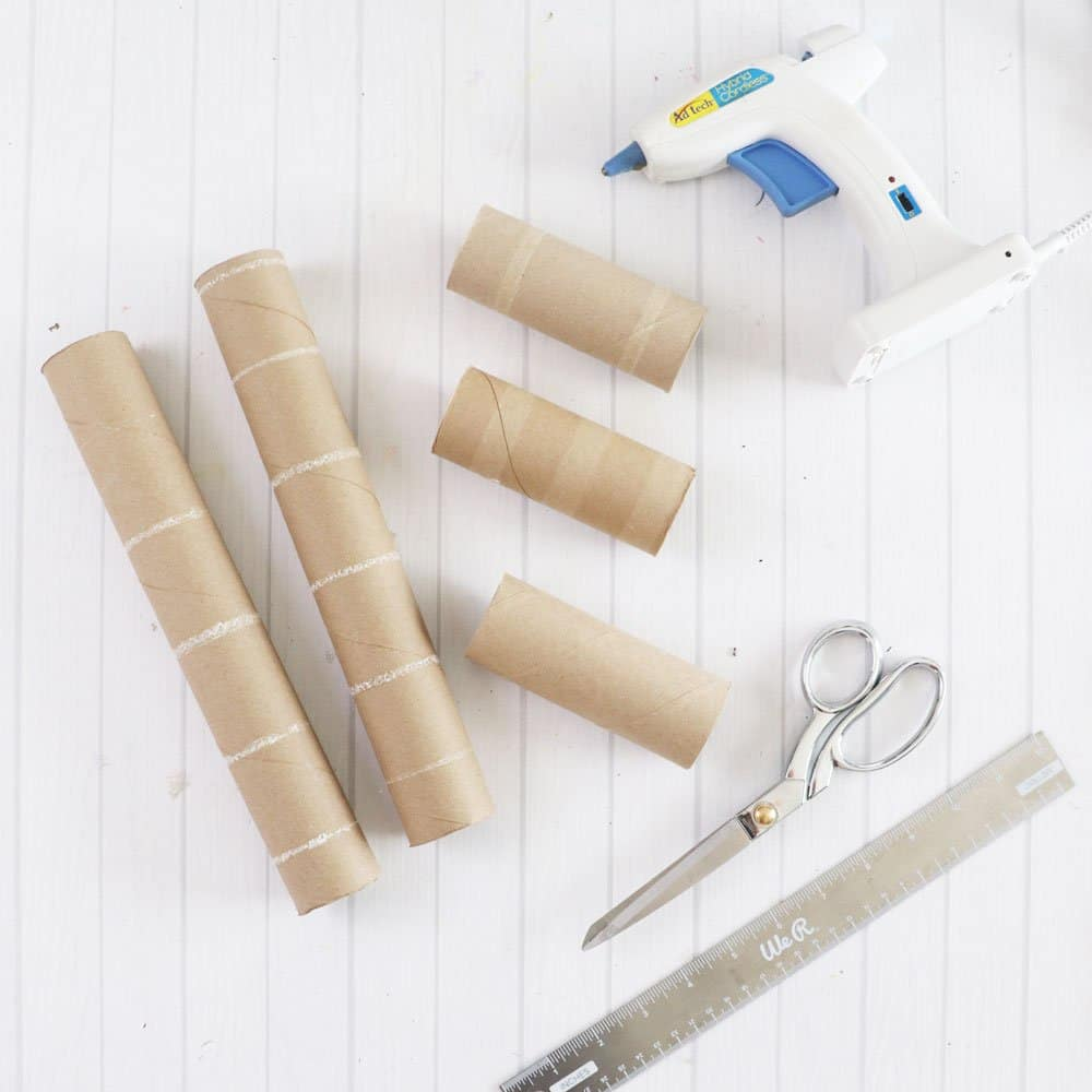 supplies to make toilet paper butterfly