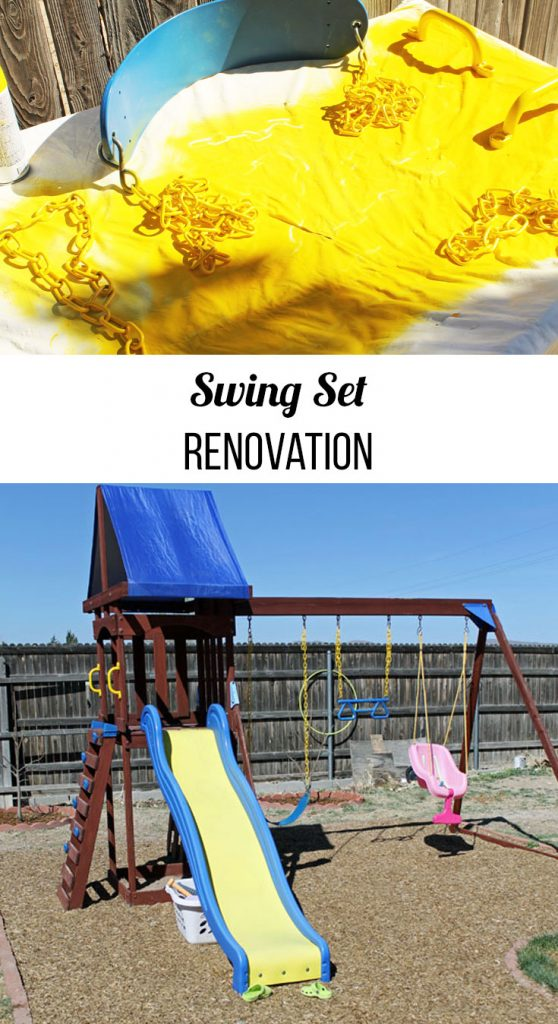 swing set renovation how to