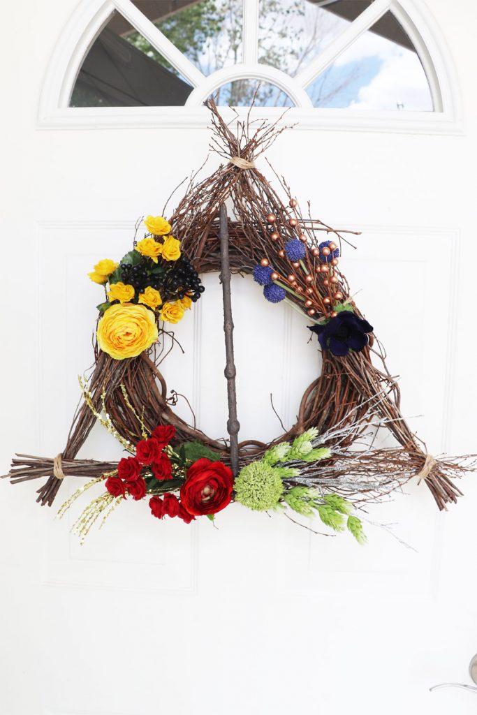 deathly hallows wreath